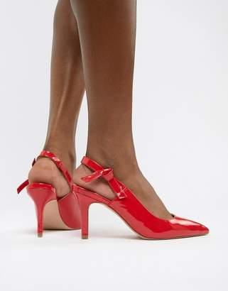 Faith Chariot pointed sling back pumps in red