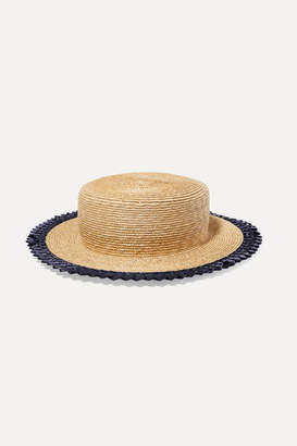 Gigi Burris Millinery Agnes Racello-trimmed Straw Hat - Neutral