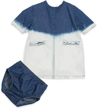 7 For All Mankind Baby's Acid Wash Dress & Bloomers Set - Blue, Size 3-6 mo
