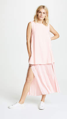 ADAM by Adam Lippes Double Layer Pleated Dress