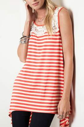 Umgee USA Sleeveless Striped Tank