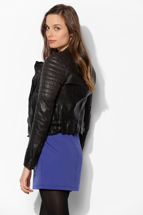 Muu Baa Muubaa Abila Quilted Leather Moto Jacket