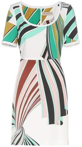 Emilio Pucci Printed stretch-twill dress
