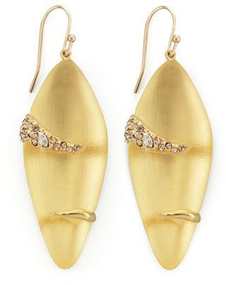 Alexis Bittar Durban Small Lucite Earrings, Golden