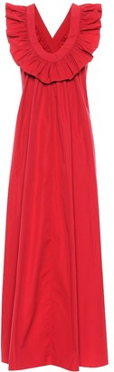 Three Graces London Geraldine cotton poplin maxi dress