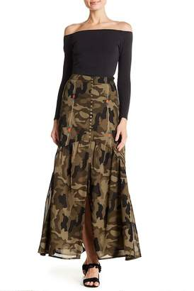 Z&L Europe Camo Patterned Maxi Skirt