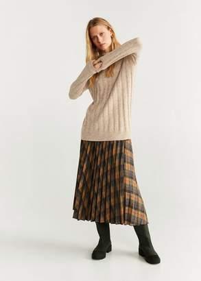 MANGO Striped knit sweater light/pastel grey - XS - Women