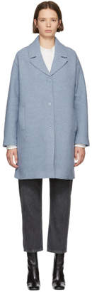YMC Blue Wool Heroes Coat