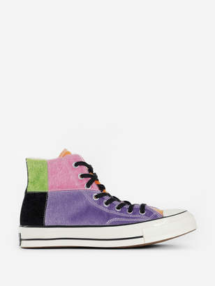 Converse MULTICOLOR FURRY CHUCK 70 HIGH TOP SNEAKERS