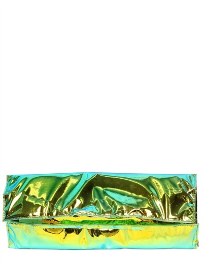 Hologram Laminated Cotton Clutch
