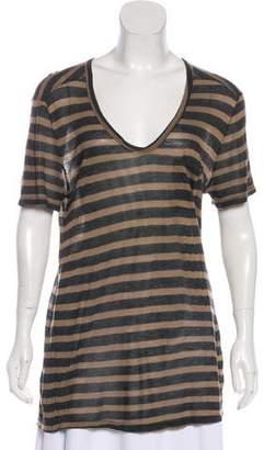 Alexander Wang Stripe Short Sleeve T-Shirt