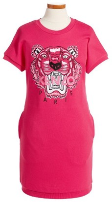 Toddler Girl's Kenzo Embroidered Tiger Sweatshirt Dress $101.20 thestylecure.com