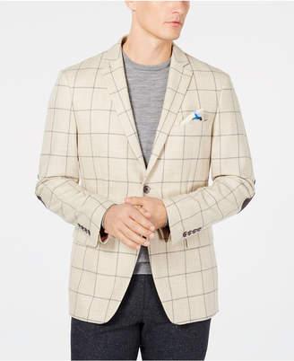 Tallia Men's Big & Tall Slim-Fit Windowpane Sport Coat