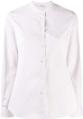 Aspesi collarless button down shirt