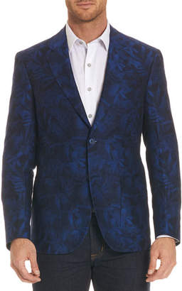 Robert Graham Buxons Floral-Pattern Linen-Blend Jacket