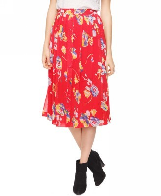 Forever 21 Buttoned Floral Skirt