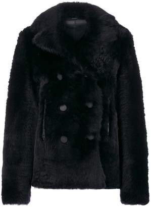 Joseph double breasted fur jacket