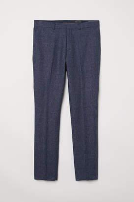 H&M Wool-blend Pants Slim fit - Blue