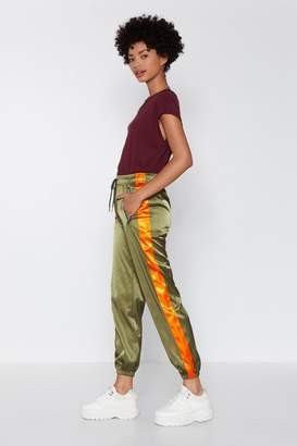 Nasty Gal Stripe It Out High-Waisted Joggers