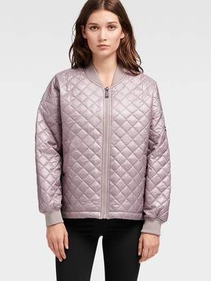 DKNY Oversized Quilted Bomber Jacket