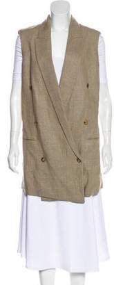 Michael Kors Linen Open Front Vest w/ Tags