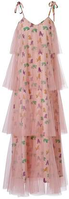 SUPERSWEET x moumi - Binkie Dress Tigers Pink Tulle