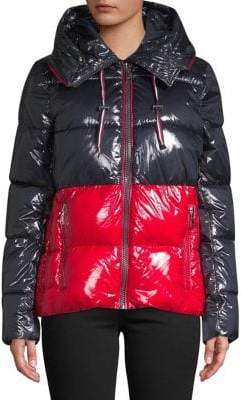 Tommy Hilfiger Colourblock Icon Puffer Coat