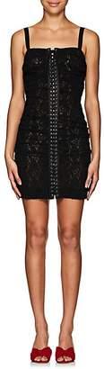 Dolce & Gabbana Women's Floral Lace Minidress - Black