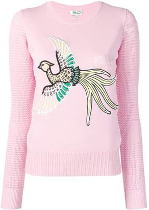 Kenzo embroidered bird jumper
