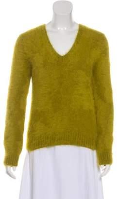 Michael Kors Lightweight V-Neck Sweater Green Lightweight V-Neck Sweater