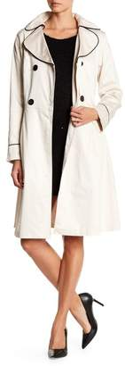 Papillon Double Breasted Fit-And-Flare Belted Trench Coat