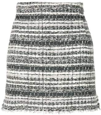 Thom Browne Banker Stripe Lace Ribbon Mini Skirt