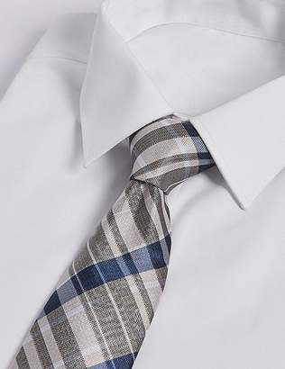 Marks and Spencer Pure Silk Checked Tie