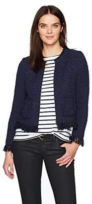 Rebecca Taylor Women's Fringe Tweed Jacket