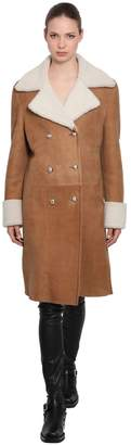 Ermanno Scervino Double Breasted Shearling Coat