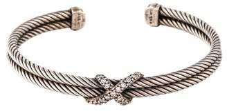 David Yurman Diamond X Cable Cuff