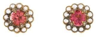 Cathy Waterman 22K Tourmaline & Diamond Scallop Earrings