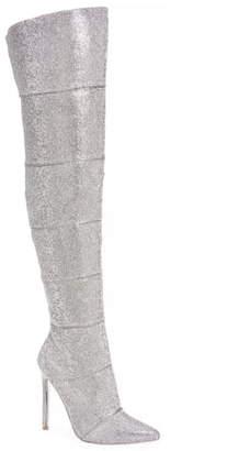 Steve Madden Wonder Crystal Embellished Over the Knee Boot