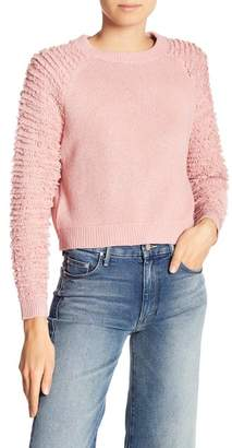 Etienne Marcel Crew Neck Fuzzy Knit Sweater