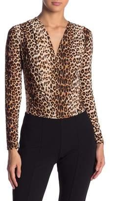 Blvd Leopard Print Surplice Bodysuit be6ddeaf9