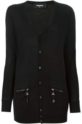 DSQUARED2 zip pocket detail cardigan