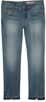 AG Jeans Teegan Split-Hem Cropped Skinny Jeans, Size 7-14