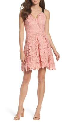 Women's Adelyn Rae Fit & Flare Dress $113 thestylecure.com