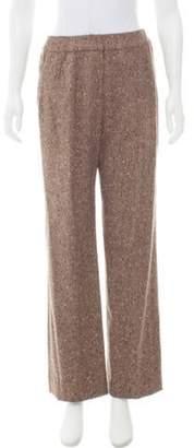 Oscar de la Renta High-Rise Tweed Pants w/ Tags Brown High-Rise Tweed Pants w/ Tags