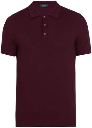 Zanone Short-sleeved knitted polo shirt