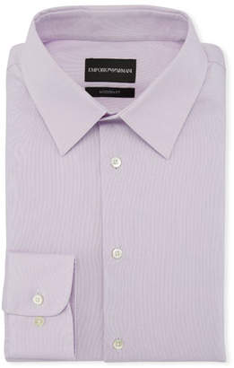 Emporio Armani Men's Modern-Fit Solid Stretch Broadcloth Dress Shirt