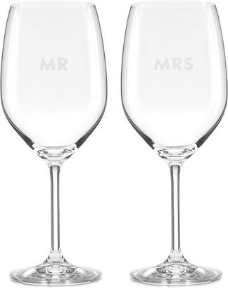 Kate Spade Darling Point Collection 2-Pc. Wine Glasses Set