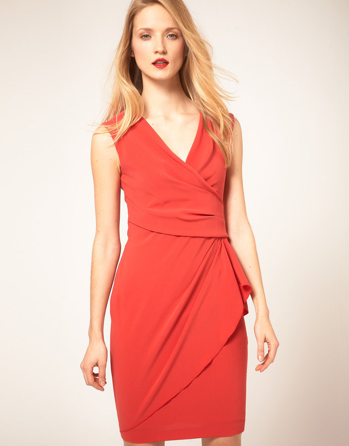 Coast Bright Wrap Front Dress