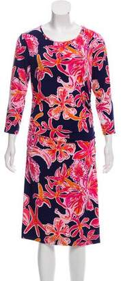 Lilly Pulitzer Floral Midi Dress