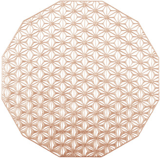 Chilewich Pressed Vinyl Kaleidoscope Round Placemat - Pink Champagne